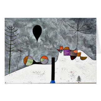 Klee - Winter, Paul Klee painting Note Card
