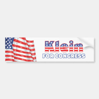 Klein for Congress Patriotic American Flag Design Bumper Sticker