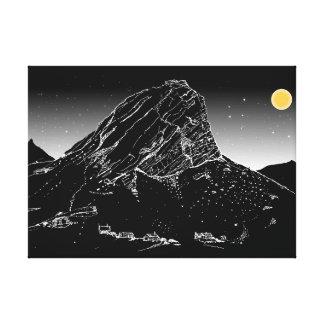 Klein Hang-Klip Mountain, Rooiels. Night Sky Canvas Print
