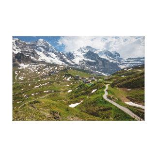Kleine Scheidegg, Switzerland - Canvas. Canvas Print