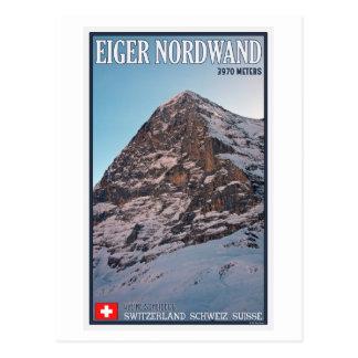 Kleine Scheidegg - The North Wall of the Eiger Postcard