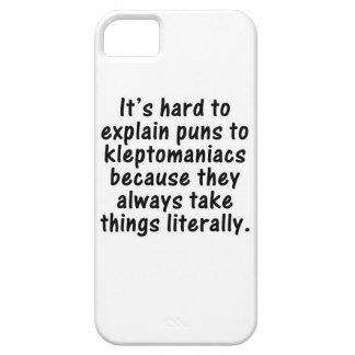 Kleptomaniac pun iPhone 5 case