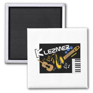 Klezmer Square Magnet