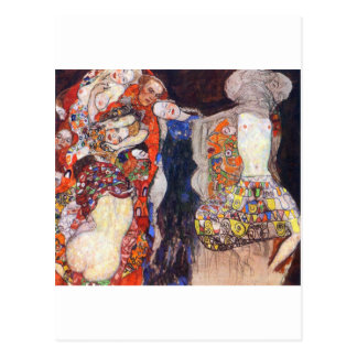 Klimt  Adorn the bride with veil and wreath Postcard