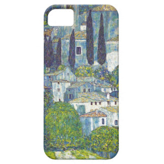 Klimt blue cityscape iPhone 5 covers