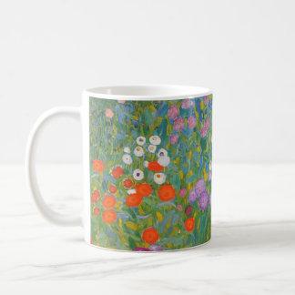 Klimt Flower Garden Painting I Nouveau Basic White Mug