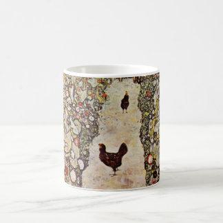 Klimt Garden With Roosters Mug