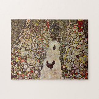 Klimt Garden With Roosters Puzzle