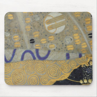 Klimt Gold, Beige Black Art Nouveau Pattern Mouse Mat