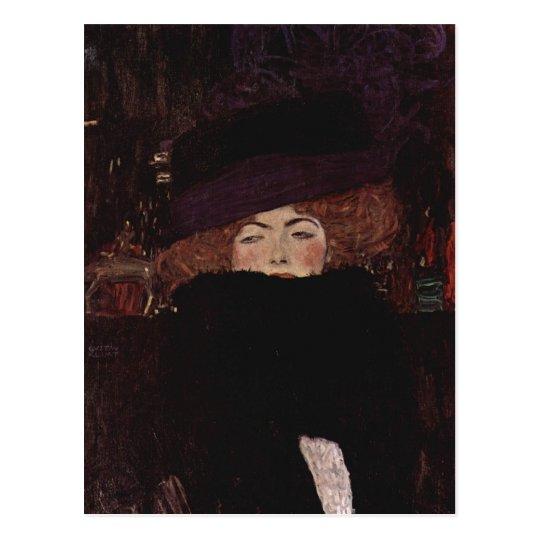 Klimt, Gustav Dame mit Hut und Federboa 1909