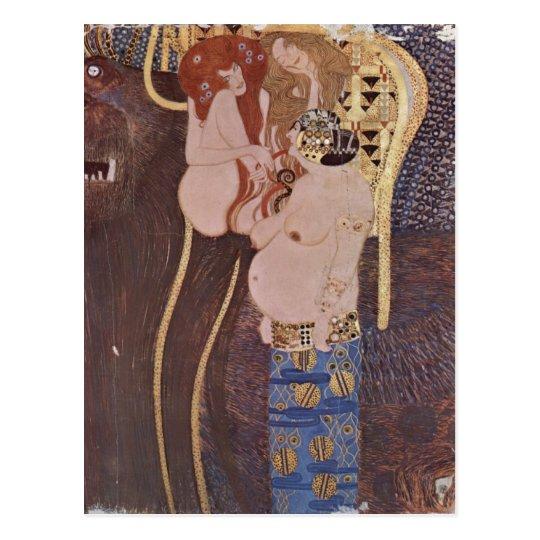 Klimt, Gustav Der Beethovenfries, Wandgem?lde im S Postcard