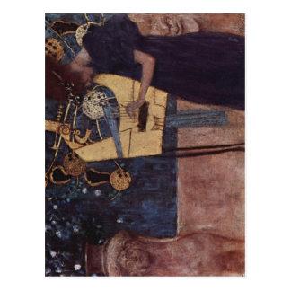 Klimt, Gustav Die Musik 1895 Technique ?l auf Lein Postcard