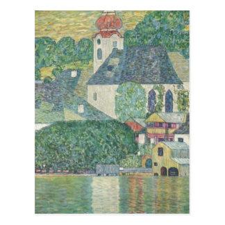 Klimt, Gustav Kirche in Unterach am Attersee 1916  Postcard