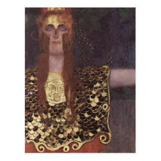 Klimt, Gustav Pallas Athena 1898 Technique ?l auf  Postcard