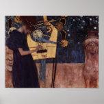 Klimt Gustav The Music Poster