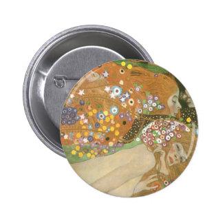 Klimt, Gustav: Wasserschlangen (Freundinnen) II 6 Cm Round Badge