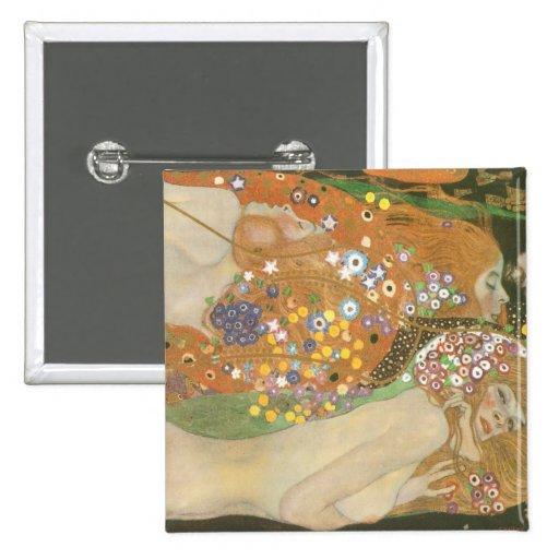 Klimt, Gustav: Wasserschlangen (Freundinnen) II Pins