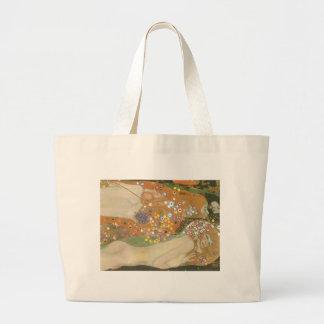 Klimt, Gustav: Wasserschlangen (Freundinnen) II Jumbo Tote Bag