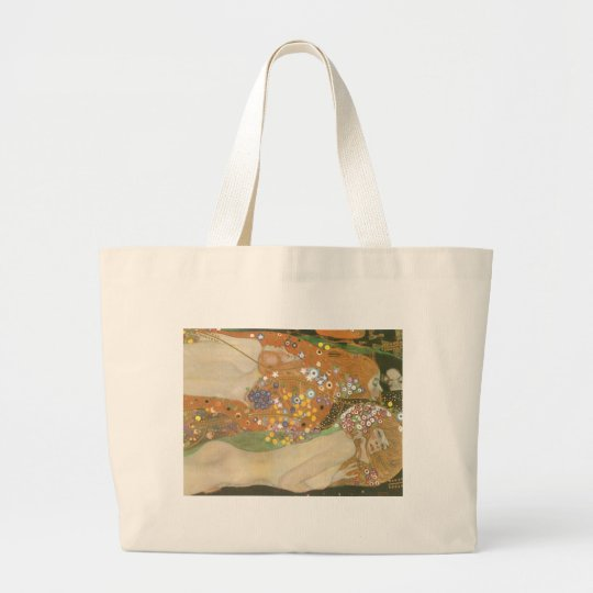 Klimt, Gustav: Wasserschlangen (Freundinnen) II Large Tote Bag