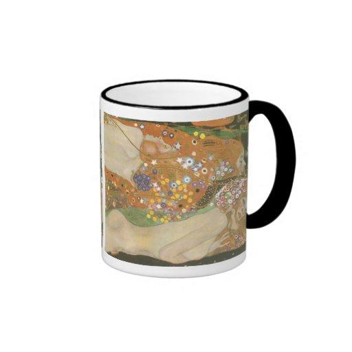 Klimt, Gustav: Wasserschlangen (Freundinnen) II Coffee Mugs