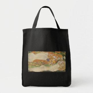 Klimt, Gustav: Wasserschlangen (Freundinnen) II Grocery Tote Bag