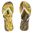 Klimt Inspired Art Nouveau The Kiss Flip Flops
