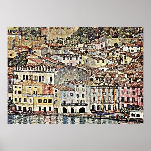 Klimt - Malcesine on Lake Garda Poster