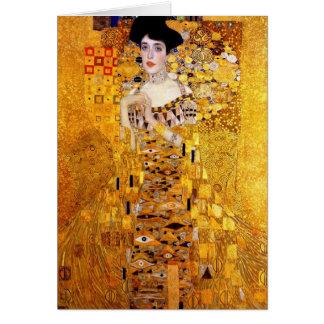 Klimt Portrait of Adele Bloch-Bauer I Greeting Car Card