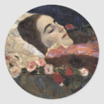Klimt Ria Munk On Her Deathbed Stickers