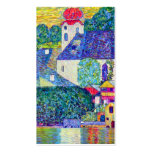 Klimt St Wolfgang church in Unterach on Lake Atter Pack Of Standard Business Cards