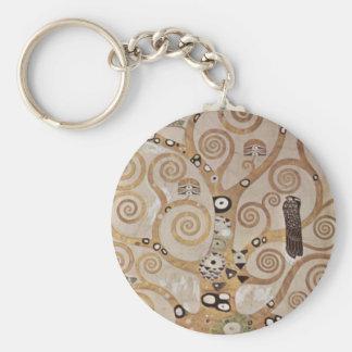 Klimt -  Stocletfries Basic Round Button Key Ring