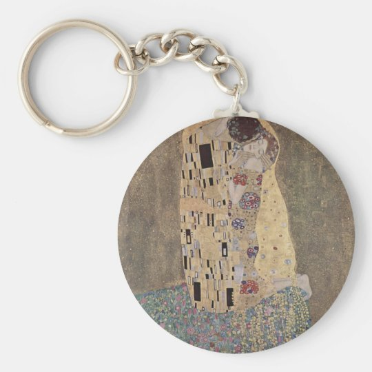 Klimt - The Kiss Basic Round Button Key Ring