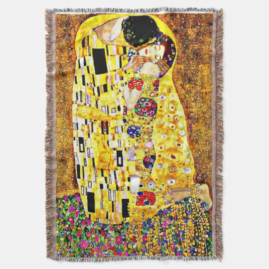Klimt - The Kiss Throw Blanket
