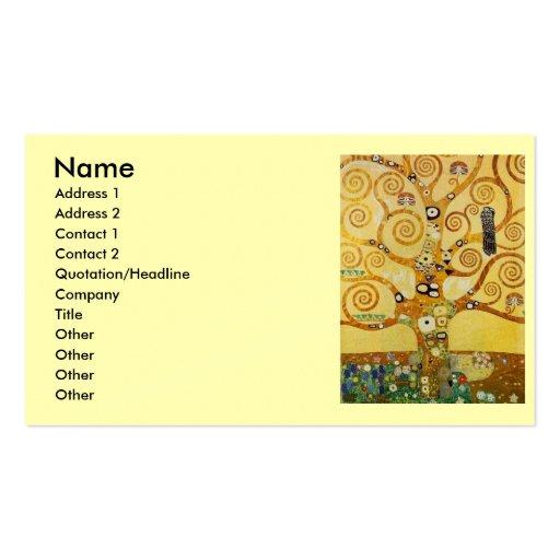 Klimt Tree of Life Business Card Template