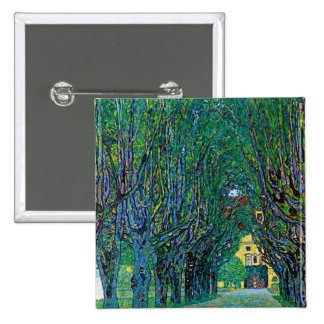 Klimt way to the park avenue in schloss kammer art 15 cm square badge