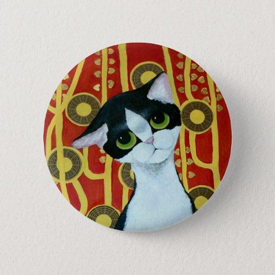 Klimt's Cat 6 Cm Round Badge