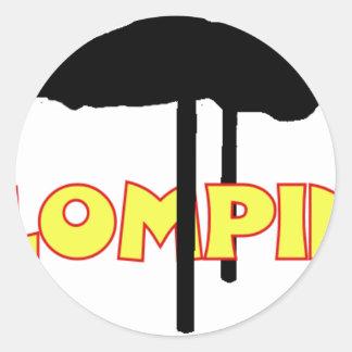 Klomping silhouet sticker