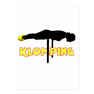 Klomping silhouet wens kaarten