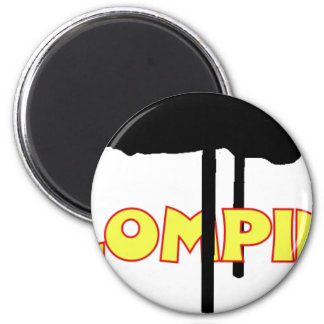 Klomping silhouette 6 cm round magnet