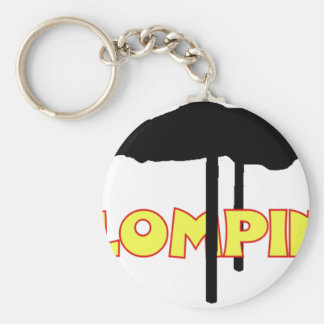 Klomping silhouette basic round button key ring