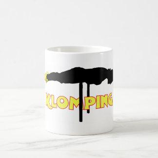 Klomping silhouette basic white mug