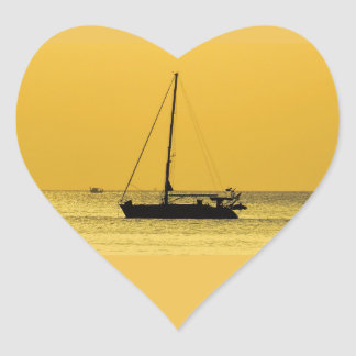 Klong Dao Beach Koh Lanta sunset Heart Sticker
