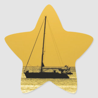 Klong Dao Beach Koh Lanta sunset Star Sticker