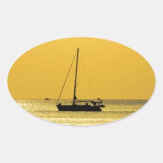 Klong Dao Beach Koh Lanta sunset Oval Sticker