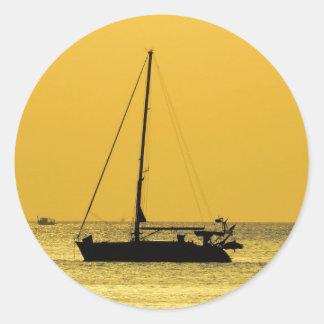 Klong Dao Beach Koh Lanta sunset Round Sticker