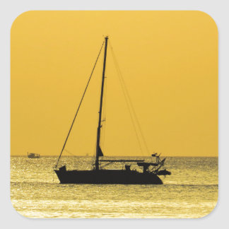 Klong Dao Beach Koh Lanta sunset Square Sticker