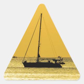 Klong Dao Beach Koh Lanta sunset Triangle Sticker