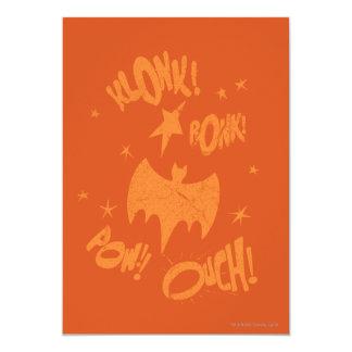 KLONK POW Bat Symbol Graphic 13 Cm X 18 Cm Invitation Card