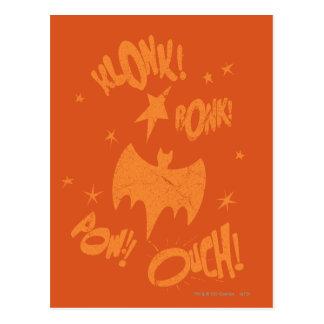 KLONK POW Bat Symbol Graphic Post Cards