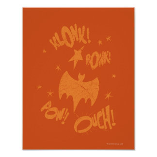 KLONK POW Bat Symbol Graphic Poster